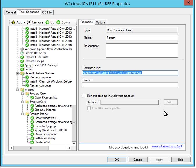 Building a Clean Windows 10 Reference Image – MDT 2013 U1 – Exec|Mgr