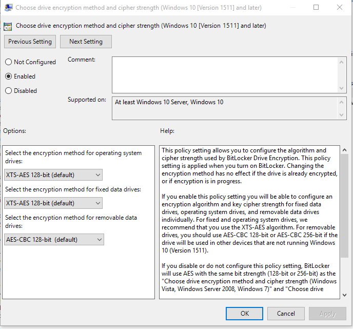 Bitlocker) MBAM Will Not Prompt For Pin on Windows 10 1511 – Exec|Mgr
